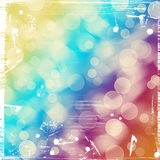 Bright colorful circles with bokeh background. Abstract grunge background or texture, illustration Stock Photo