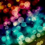 Bright colorful circles with bokeh background. Colorful circles with bokeh background, illustration Stock Photos