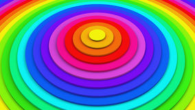 Bright colorful concentric circles 3D rendering royalty free illustration