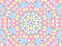 Bright colorful concentric pattern Stock Images