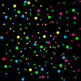 Bright colorful confetti on a black background. Festive design element for decoration Royalty Free Stock Image