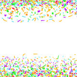 Bright colorful confetti layout over white background. Abstract. Paper pieces isolated. Easy to apply any Image or Graphics. Vector illustration Royalty Free Illustration
