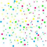 Bright colorful confetti on a white background Royalty Free Stock Image