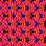 Bright colorful continuous pattern in red and violet. Colorful continuous pattern in red and violet Royalty Free Stock Images