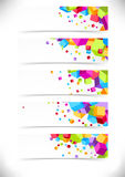 Bright colorful cube cards collection Stock Photo
