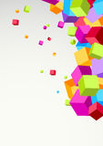Bright colorful cubes background template Stock Images
