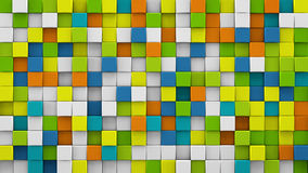 Bright colorful cubes 3D render Stock Photos
