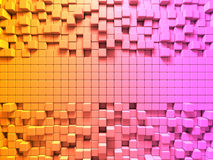 Bright Colorful Cubes Pattern Background. 3d Render illustration Royalty Free Stock Image