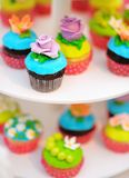 Bright colorful cupcakes Stock Image