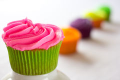 Bright colorful cupcakes Royalty Free Stock Image