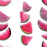 Beautiful wonderful bright colorful delicious tasty yummy ripe juicy cute lovely red summer fresh dessert slices of watermelon pat Stock Photos