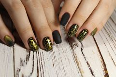 Bright, colorful design of manicure stock photography