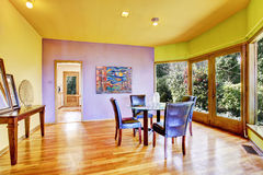 Bright colorful dining room Stock Images