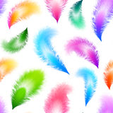 Bright colorful feathers seamless pattern Royalty Free Stock Photography
