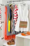 Bright colorful female fashion clothes Royalty Free Stock Photo