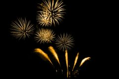 Bright and colorful fireworks against a black night sky.Firework Stock Photography