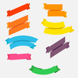 Bright colorful flat ribbons set Royalty Free Stock Photography