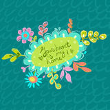 Bright colorful floral background for beautiful design Royalty Free Stock Images