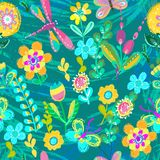 Bright colorful floral pattern for beautiful design Stock Photography