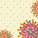 Bright Colorful Flower Greeting Card Royalty Free Stock Images