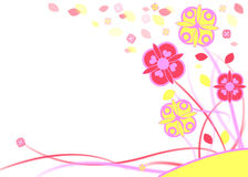 Bright colorful flowers. Bright, colorful and abstract flower illustration Stock Photography