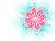 Bright colorful fractal flower Stock Image