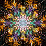 Bright colorful fractal flower Royalty Free Stock Image