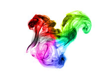 Bright colorful fume abstract shapes over white Royalty Free Stock Image