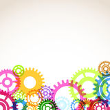Bright colorful gear mechanism abstraction Stock Image