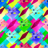 Bright colorful geometric abstract pattern Graffiti. Vector eps 10 Royalty Free Stock Photography