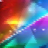 Bright Colorful Geometric Triangle Background. Triangles Theme. Backdrop of Geometric Shapes. Universal Abstraction Stock Photos