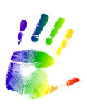 Bright colorful handprint illustration Royalty Free Stock Photo