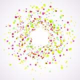 Bright colorful holi paint splatter layout Stock Photography