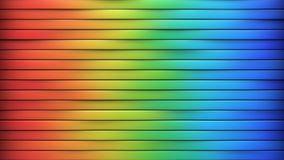 Bright colorful horizontal lines abstract 3D rendering vector illustration