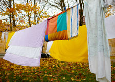 Bright colorful linen. Royalty Free Stock Photos