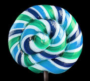 Bright colorful lollipop over black background Stock Photo