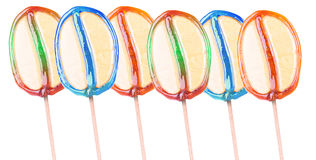 Bright colorful lollipop over white background Stock Photography
