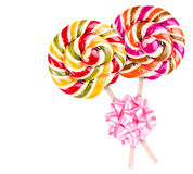 Bright colorful lollipop over white background Royalty Free Stock Images