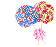 Bright colorful lollipop over white background Royalty Free Stock Image