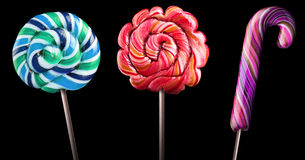 Bright colorful lollipop set Royalty Free Stock Photography