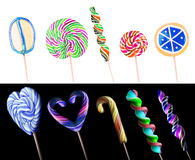 Bright colorful lollipop set Stock Photos