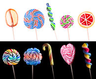 Bright colorful lollipop set Stock Photo