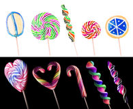 Bright colorful lollipop set Royalty Free Stock Images