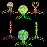 Bright colorful lollipop set Royalty Free Stock Image