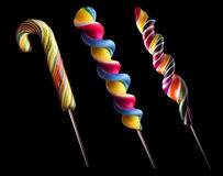 Bright colorful lollipop set Stock Photo