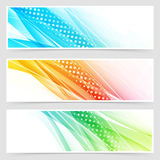 Bright colorful modern futuristic dotted headers. Vector illustration Stock Image