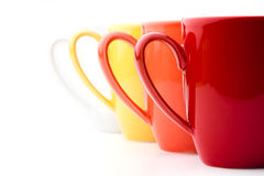 Bright colorful mugs Royalty Free Stock Image