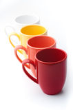 Bright colorful mugs Stock Images