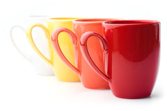Bright colorful mugs Royalty Free Stock Photos
