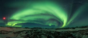 Free Bright Colorful Northern Lights In The Night Sky. Royalty Free Stock Photo - 129465945